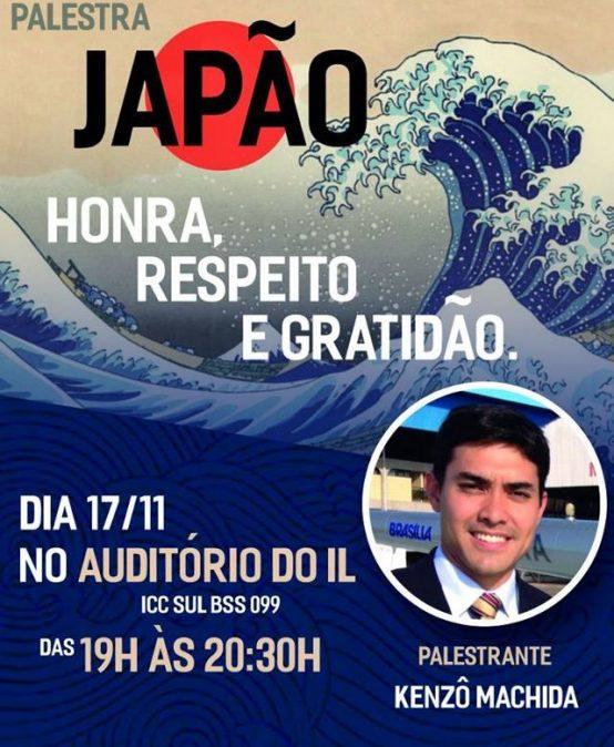 """Palestra – """"Japão: Honra, Respeito e Gratidão"""""""