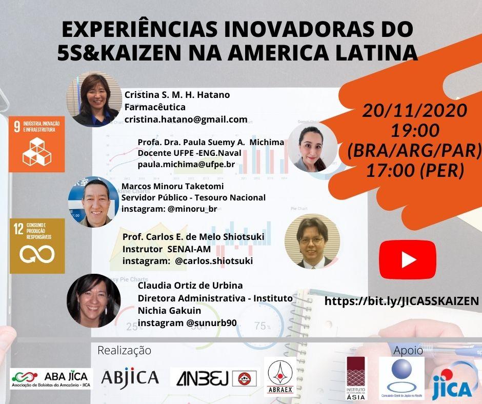 20/11/2020 – Experiências inovadoras do 5S e Kaizen na América Latina
