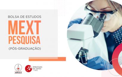 28/08/2020 – Live: Bolsas de Estudo MEXT (Pesquisa)